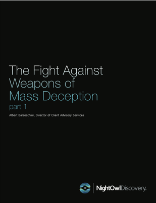 The Fight Against Weapons of Mass Deception- Part 1